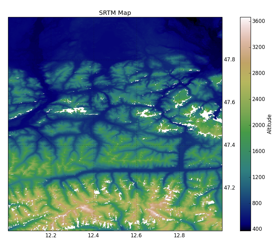 Shaded Relief Map in Python | Géophysique be